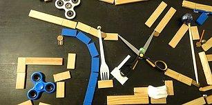 Sıradan Eşyalarla Yapılan Muhteşem Rube Goldberg Makinesi