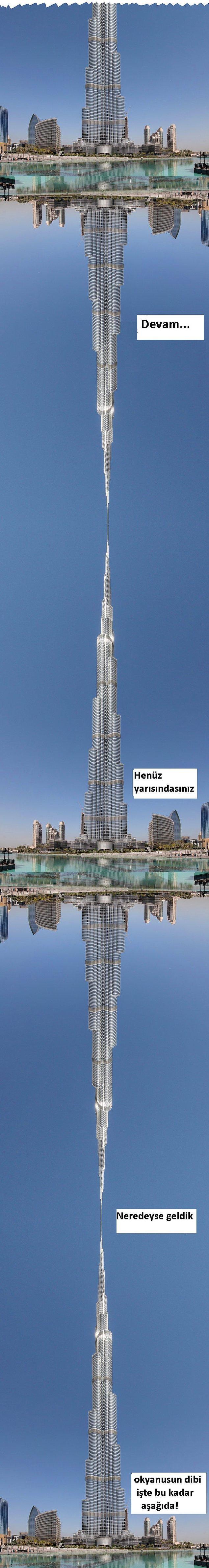 4. Bu da dünyanın en uzun binası olan, 160 katlık  Burj Khalifa'nın tam 4.5 katı demek.