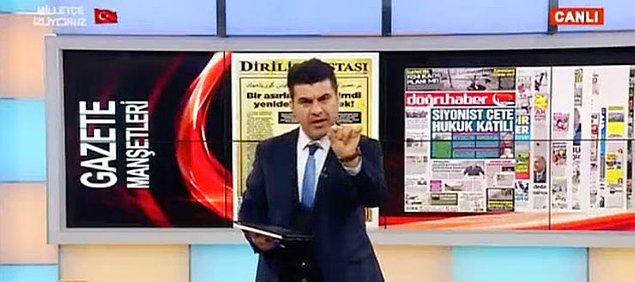 Akit TV'deki Yusuf Ozan isimli sunucu manşeti algı operasyonu olarak niteledi.