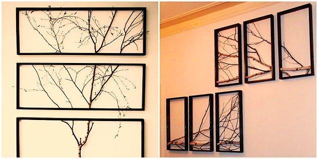 3. Ağaç Dallarından Tablo