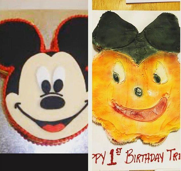 6. Mickey bile bazen güneş yanığı olur.