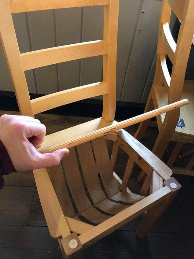 6. Kayak merkezindeki bir sandalye! Kaskınızı ve eldivenlerinizi koymanız için tasarlanmış