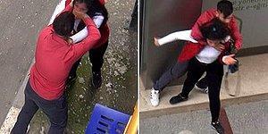 Biri 14 Şubat mı Dedi? Adana'da Nişanlısının Boğazını Sıkıp Tartaklayan 'Sevgili' Kamerada