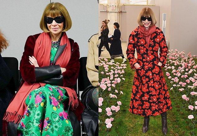 Modanın Kraliçesi Anna Wintour ise adeta çiçek açtı desek yeridir!