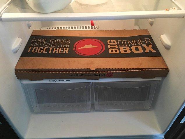 21. Yiyecek kutusu ve buzdolabı.