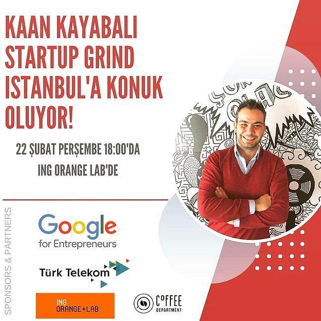 Startup Grind Istanbul'un bu ayki konuğu ise Onedio.com'un kurucu ortağı ve CEO'su Kaan Kayabalı!