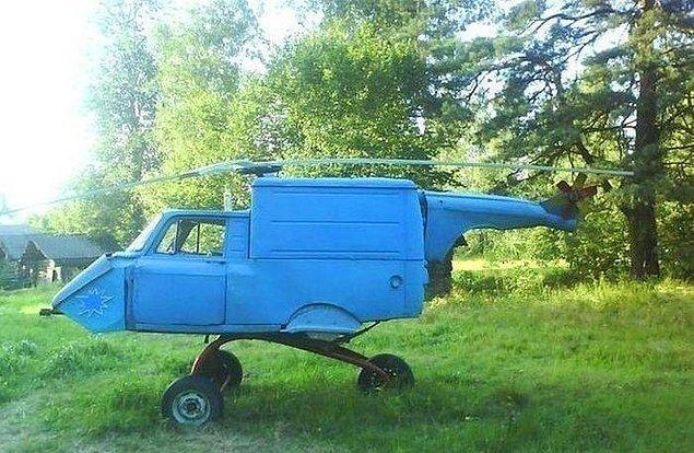 13. Perte çıkan araçlarınızı bu şekilde değerlendirebilirsiniz. Bir gün herkesin kendi helikopteri olacak!