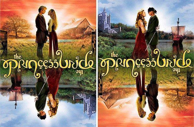 4. Prenses Gelin filminin 20. yıldönümü için çıkan DVD kapağı, ters çevrildiğinde de birebir aynı görünüyor.
