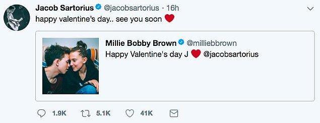 13 yaşındaki yıldız, aynı gönderiyi Twitter'da da paylaştı.