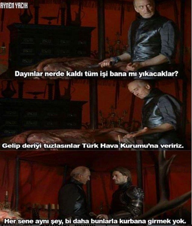 12. Westeros'ta bir kurban bayramı.