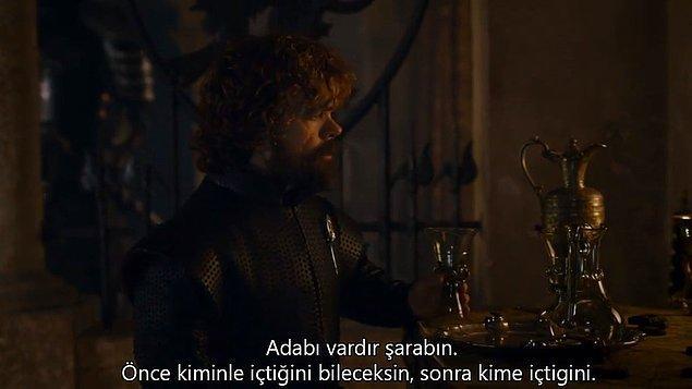 13. Tyrion Lannister klasiği.