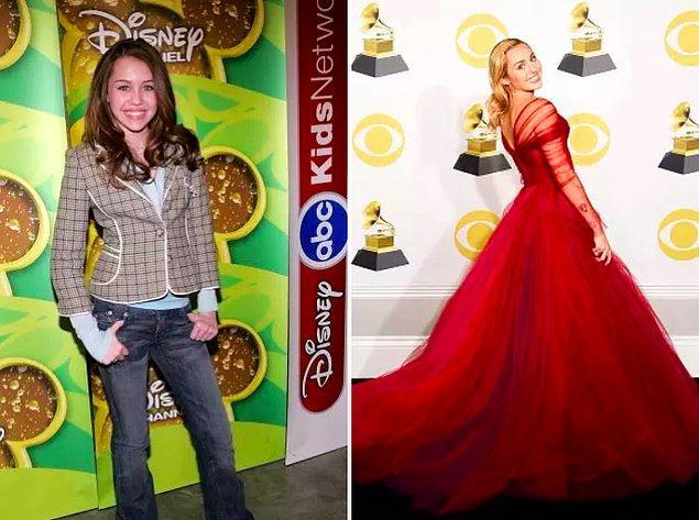 10. Miley Cyrus değişiminin her adımını biliyor olabiliriz. 😂