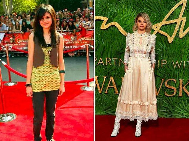 17. Selena Gomez kocaman kız oldu! 😍