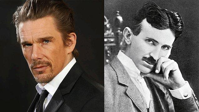 """1. Ethan Hawke, Michael Almereyda'nın yöneteceği """"Tesla"""" adlı filmde Nikola Tesla'yı oynayacak!"""