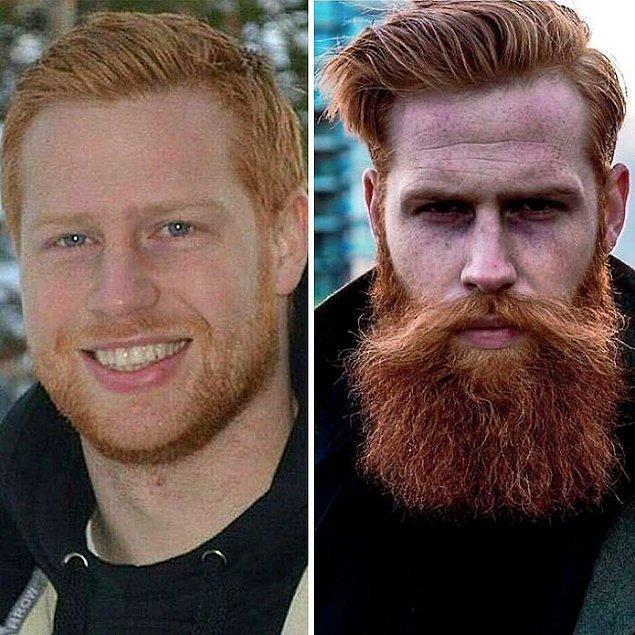 İşte tam da o dönem Gwilym'in berberi genç adama sakal bırakmasını tavsiye etmiş! Sonuç mu?