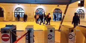 İZBAN'da 'Artı Para' Kavgası: Özel Güvenlik Görevlileri ile Yolcular Birbirine Girdi