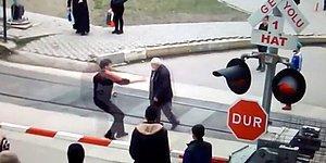 Trene Kafa Tutan Yaşlı Adamı Saniyelerle Kurtaran TCDD Personeli