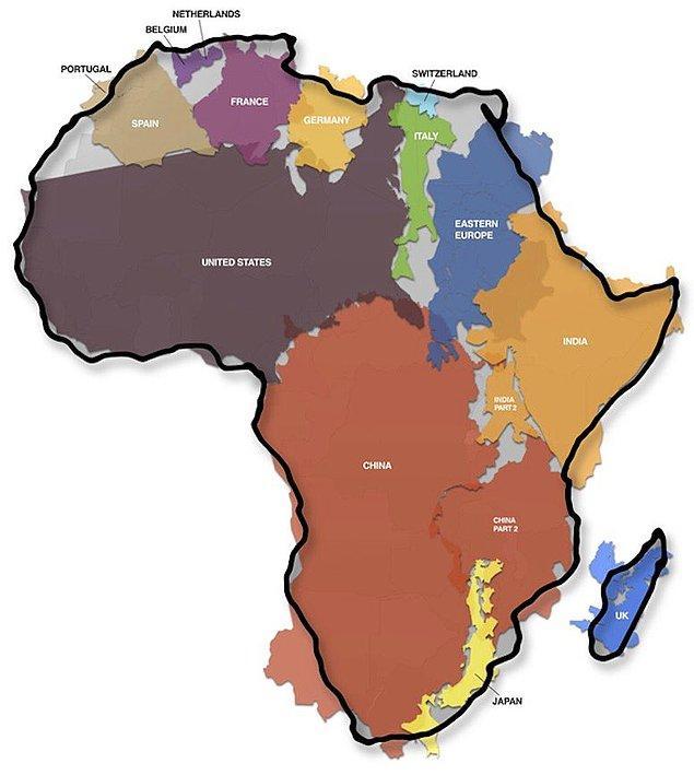 2. Afrika çok ama çok büyük!