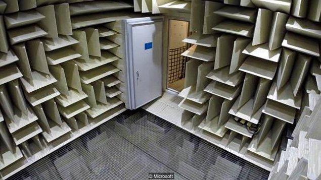 8. Dünyanın en sessiz yeri Microsoft binasındaki B87 isimli laboratuvar. Burası o kadar sessiz ki (-20 desibel), insan kendi vücudundaki kanın akışını duyabilir!