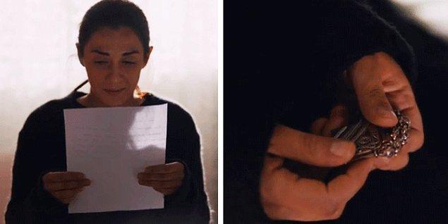 Yas tutan Sadiş yatağında bir mektup buldu. Vartolu ona ölmeden önce küçük bir hediye bırakmış.