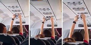 Uçağın Havalandırma Sisteminde İç Çamaşırını Kurutmaya Çalışan Yolcu