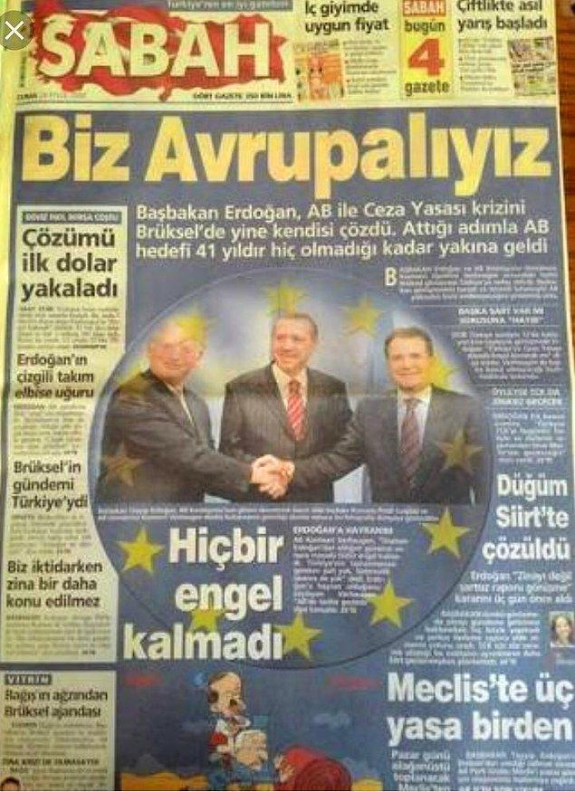 Erdoğan 2004 yılındaki AB sürecinde 'Biz iktidardayken zina düzenlemesi bir daha gündeme gelmez' açıklamasını yapmıştı.