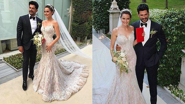 Güzel oyuncu, Çalıkuşu dizisinde tanıştığı Burak Özçivit ile geçtiğimiz yaz ayında evlenmişti.