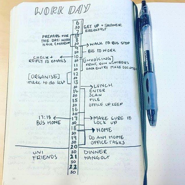 10. Günü belirli zaman dilimlerine göre bölerek planlayın.