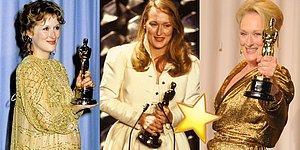 21 Adaylığıyla Oscar'ın Altın Kızı Olarak Nam Salan Usta Oyuncu Meryl Streep'in 21 Adımda Oscar Serüveni!