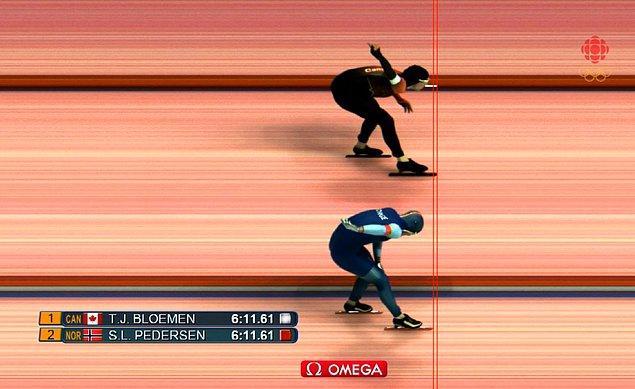 15. 2 km'lik yarışı 2 cm ile kaybetmek!