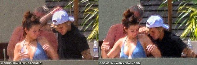 Justin Selena'nın yanından bir dakika bile ayrılmadı. 😊