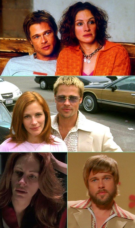 10. Julia Roberts & Brad Pitt