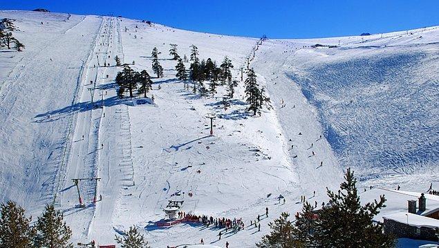Kış sporlarını sevenler içinse, Kartalkaya Kayak Merkezi.