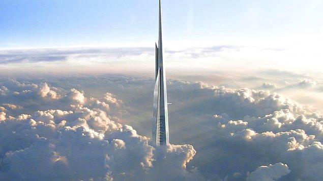 Hala yapımı devam eden Suudi Arabistan'ın yeni gökdeleni, Cidde Kulesi: