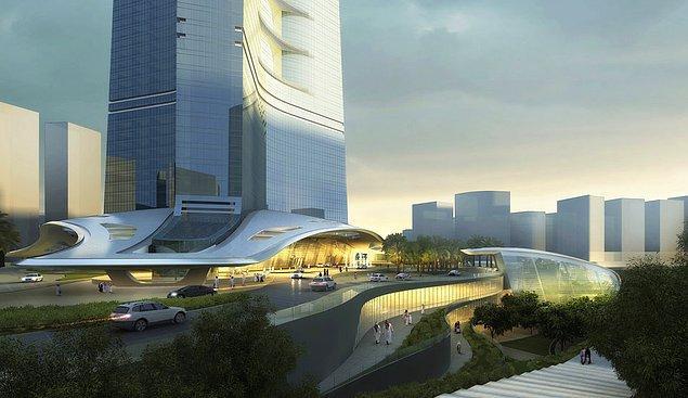 Yani kısaca gökdelen minyatür bir şehir görevi görecek.