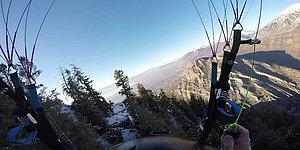 Ölümle Dalga Geçen Paraşütçünün 2 Dakikalık Adrenalin Dolu Yolculuğu