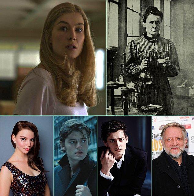 """6. Rosamund Pike'ın kimyager ve fizikçi Marie Currie'yi canlandıracağı """"Radioactive"""" adlı filmin kadrosuna Anya Taylor-Joy, Sam Riley, Aneurin Barnard ve Simon Russell Beale dahil edildi."""