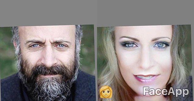 13. Halit Ergenç'in kadın hali Hollywood aktrislerine benziyor.
