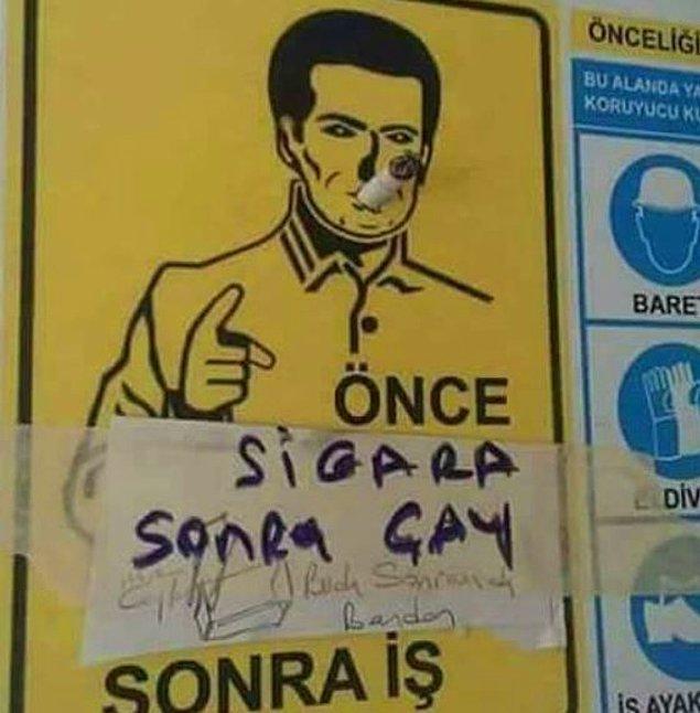 9. Önce sigara çay arkadaş. :)