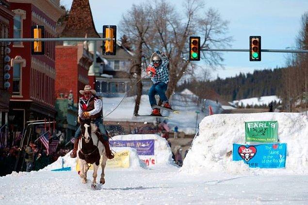 7. Bir zamanlar kış olimpiyatlarında bir dönem köpekler ve atlar da gösteri amaçlı yarışlarda kullanıldı.