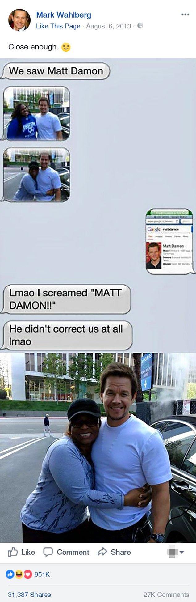 1. Mark Wahlberg'ün bile bozuntuya vermediği yanlış anlaşılma 😂