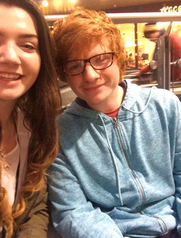 """11. """"Ed Sheeran'la tanıştığını zannedeli bugün bir yıl oluyor."""""""