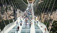 Dünyanın En Uzun Asma Cam Köprüsü Çin'de Açıldı