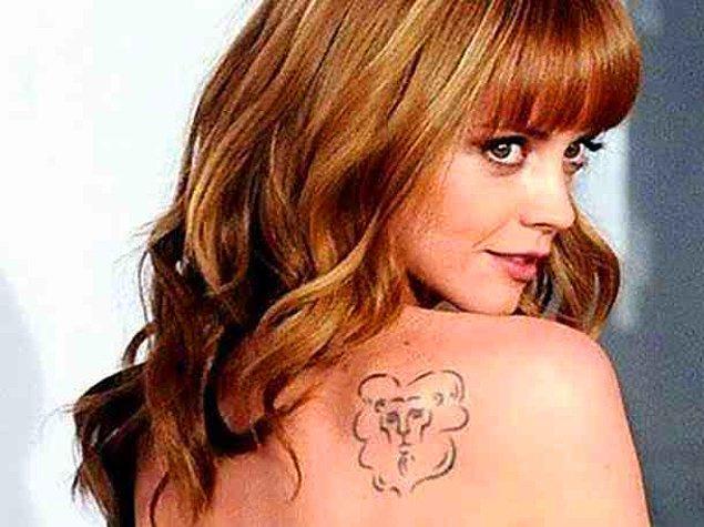 14. Christina Ricci'nin aslan dövmesi: