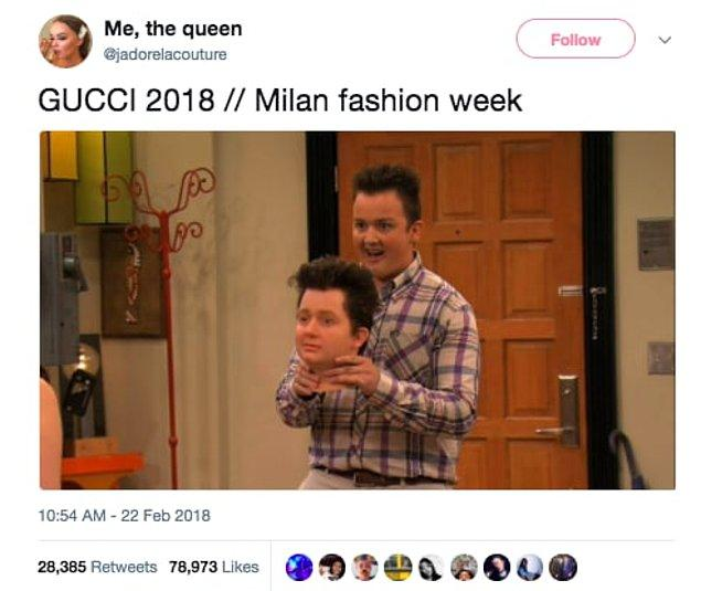 5. GUCCI 2018 // Milano Moda Haftası 👇😂
