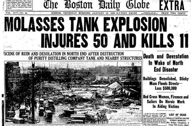 6. Yaklaşık 100 yıl önce gerçekleşen Boston pekmez seli felaketi 21 kişiyi öldürdü.