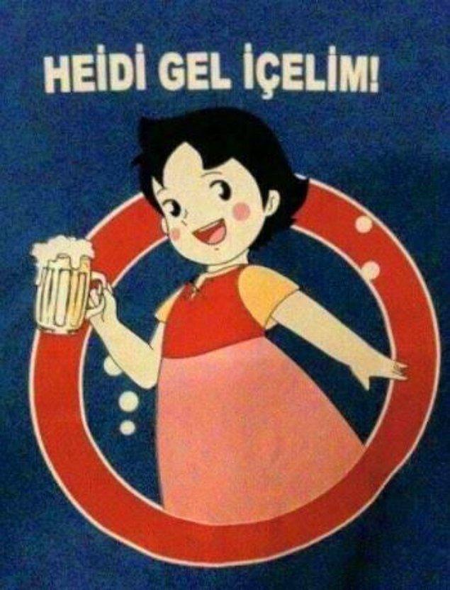 19. Heidi karakterini kullanmak zorunda mıydınız? :)