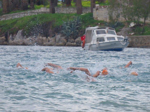 Cumartesi günü sabah 11 civarında başladığında su sıcaklığı da 17 dereceydi!