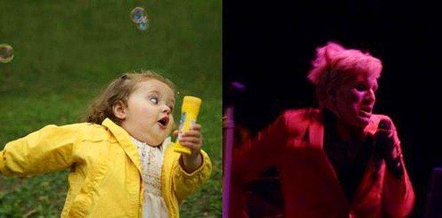 20. Ve son olarak... Patrick Stump ve baloncuklu kızımız!