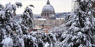 Roma'ya Altı Yıl Sonra Kar Yağdı, Ordu Göreve Çağrıldı